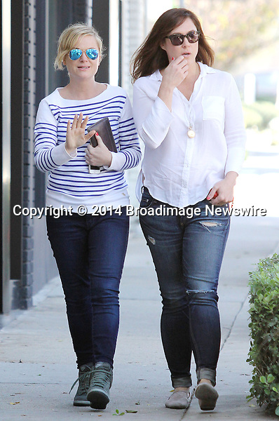Pictured: Amy Poehler<br /> Mandatory Credit &copy; Patron/Broadimage<br /> Amy Poehler out with a friend in Los Angeles<br /> <br /> 3/13/14, Los Angeles, California, United States of America<br /> <br /> Broadimage Newswire<br /> Los Angeles 1+  (310) 301-1027<br /> New York      1+  (646) 827-9134<br /> sales@broadimage.com<br /> http://www.broadimage.com