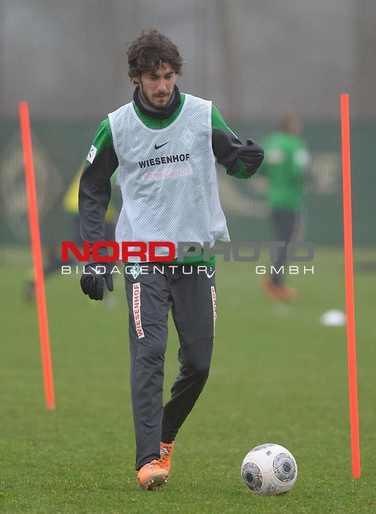 21.01.2014, Trainingsgelaende, Bremen, GER, 1.FBL, Training Werder Bremen, im Bild Santiago Garcia (Bremen #2)<br /> <br /> Foto &copy; nordphoto / Frisch