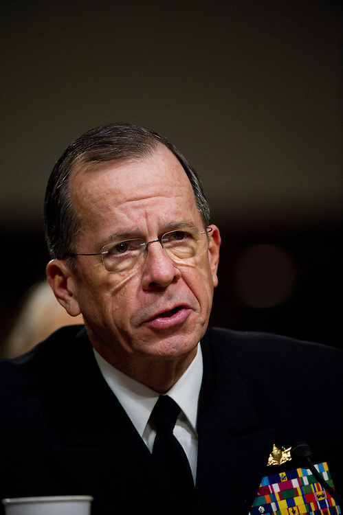 WASHINGTON, DC - March 31: Joint Chiefs of Staff Chairman Adm. Mike Mullen testifies during the Senate Armed Services hearing on the situation in Libya. (Photo by Scott J. Ferrell/Congressional Quarterly)
