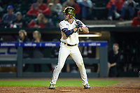 Cole Daily (6) of the Notre Dame Fighting Irish at bat against the Louisville Cardinals in Game Eight of the 2017 ACC Baseball Championship at Louisville Slugger Field on May 25, 2017 in Louisville, Kentucky. The Cardinals defeated the Fighting Irish 10-3. (Brian Westerholt/Four Seam Images)