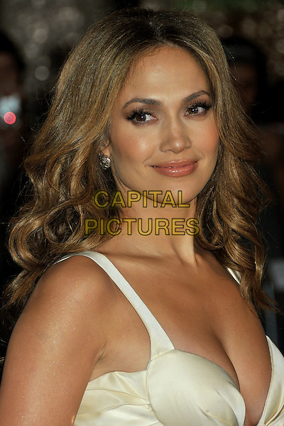 "JENNIFER LOPEZ .""The Curious Case of Benjamin Button"" Los Angeles Premiere at Mann's Village Theatre, Westwood, California, USA..December 8th, 2008.headshot portrait white silk satin plunging neckline cleavage .CAP/ADM/BP.©Byron Purvis/AdMedia/Capital Pictures."