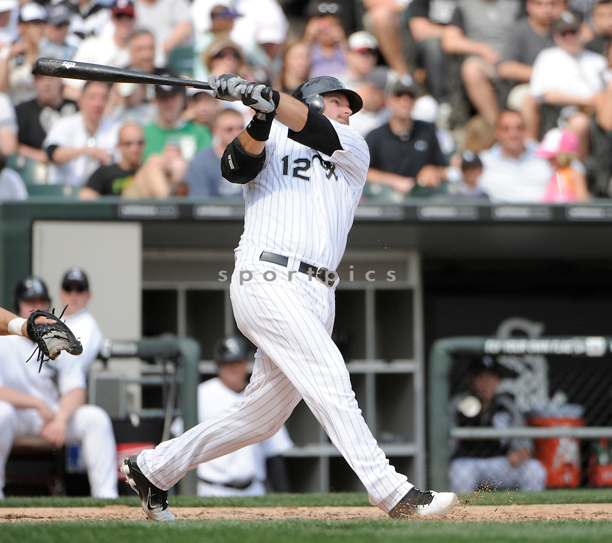 AJ PIERZYNSKI, of the Chicago White Sox , in actions during the White Sox game against the Tampa Bay Rays  at US Cellular Field on April 10, 2011.  The Chicago White Sox won the game beating the Tampa Bay Rays 6-1.