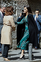 APR 10 Queen Letizia Visits Royal Monastery Convent