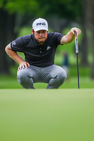 Tyrrell Hatton (ENG) lines up his putt on 2 during round 2 of the 2019 Charles Schwab Challenge, Colonial Country Club, Ft. Worth, Texas,  USA. 5/24/2019.<br /> Picture: Golffile   Ken Murray<br /> <br /> All photo usage must carry mandatory copyright credit (© Golffile   Ken Murray)