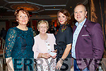 Attending the Lee Strand social last Saturday night in the Ballygarry House hotel, Tralee, were L-R Kathleen O'Laughlin, Mary Behan with Helen&Ronan Falvey.