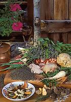 """Europe/France/Auvergne/43/Haute-Loire/Moudeyres: Pot-au-feu de piegeonneau aux lentilles du Puy, recette de Carlos Grootaert du restaurant """"Le Pré Bossu"""""""