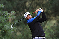 Jack Senior (ENG) on the 7th tee during Round 4 of the Challenge Tour Grand Final 2019 at Club de Golf Alcanada, Port d'Alcúdia, Mallorca, Spain on Sunday 10th November 2019.<br /> Picture:  Thos Caffrey / Golffile<br /> <br /> All photo usage must carry mandatory copyright credit (© Golffile | Thos Caffrey)