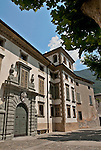 Palazzo Salis built in the mid 1600 hundreds and is now a museum in Tirano, Italy