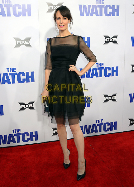 Rosemarie DeWitt.The L.A. Premiere of 'The Watch' held at The Grauman's Chinese Theatre in Hollywood, California, USA..July 23rd, 2012.full length black sheer dress tulle hand on hip.CAP/ADM/BT.©Birdie Thompson/AdMedia/Capital Pictures.