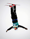 16 January 2009: Shiro Nishikawa from Japan performs aerial acrobatics during the FIS Freestyle World Cup warm-ups at the Olympic Ski Jumping Facility in Lake Placid, NY, USA. Mandatory Photo Credit: Ed Wolfstein Photo. Contact: Ed Wolfstein, Burlington, Vermont, USA. Telephone 802-864-8334. e-mail: ed@wolfstein.net