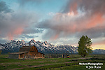 Teton Barn at sunrise.