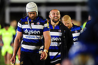 Tom Dunn of Bath Rugby is all smiles after the match. Aviva Premiership match, between Bath Rugby and Sale Sharks on October 7, 2016 at the Recreation Ground in Bath, England. Photo by: Patrick Khachfe / Onside Images