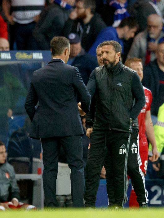 Pedro Caixinha and Derek McInnes at full time