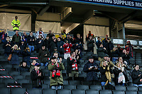 Fleetwood Town  fans applaud their team at the end of the match<br /> <br /> Photographer Andrew Kearns/CameraSport<br /> <br /> The EFL Sky Bet League One - Milton Keynes Dons v Fleetwood Town - Saturday 11th November 2017 - Stadium MK - Milton Keynes<br /> <br /> World Copyright &copy; 2017 CameraSport. All rights reserved. 43 Linden Ave. Countesthorpe. Leicester. England. LE8 5PG - Tel: +44 (0) 116 277 4147 - admin@camerasport.com - www.camerasport.com