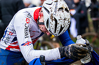 Picture by Alex Whitehead/SWpix.com - 04/02/2018 - Cycling - 2018 UCI Cyclo-Cross World Championships - Valkenburg, The Netherlands - Great Britain's Dan Tulett following the race.