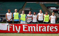 Photo: Richard Lane/Richard Lane Photography. .Emirates Airline Media training day with the England Sevens team at Twickenham. 13/05/2011. Emirates team.