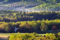 Methodist Church from Rich Mountain Road<br /> Cades Cove<br /> Great Smoky Mountains N.P. TN