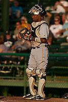 Catcher Carlos Paulino #24 of the Bradenton Marauders during a game against the Daytona Cubs at Jackie Robinson Ballpark on May 26, 2011 in Daytona Beach, Florida. (Scott Jontes / Four Seam Images)