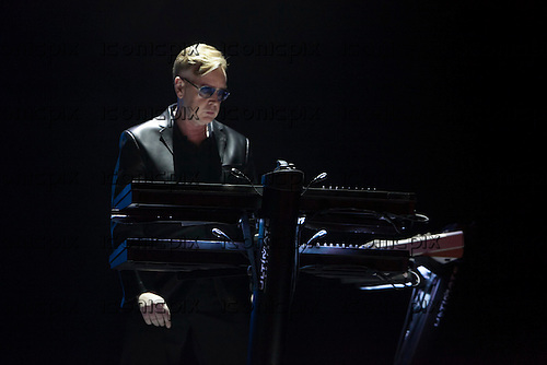 Depeche Mode - keyboard player Andy Fletcher - performing live on the Delta Machine Tour at the O2 Arena in London UK - 28 May 2013.  Photo credit: John Rahim/Music Pics Ltd/IconicPix
