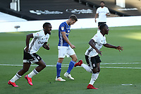 30th July 2020; Craven Cottage, London, England; English Championship Football Playoff Semi Final Second Leg, Fulham versus Cardiff City; Neeskens Kebano of Fulham celebrates after he scores for 1-1 in the 9th minute