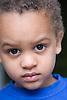 Little boy looking serious,