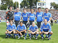 9 April 2005: San Jose Earthquakes starting Line-ups before the game against Chivas USA at Spartan Stadium in San Jose, California.   San Jose Earthquakes tied Chivas USA, 3-3.   Credit: Michael Pimentel / ISI