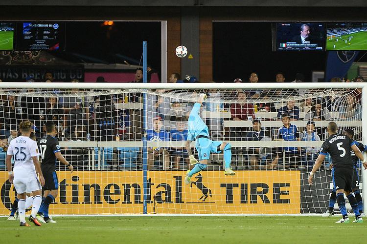 San Jose, CA - Saturday June 24, 2017: David Bingham during a Major League Soccer (MLS) match between the San Jose Earthquakes and Real Salt Lake at Avaya Stadium.