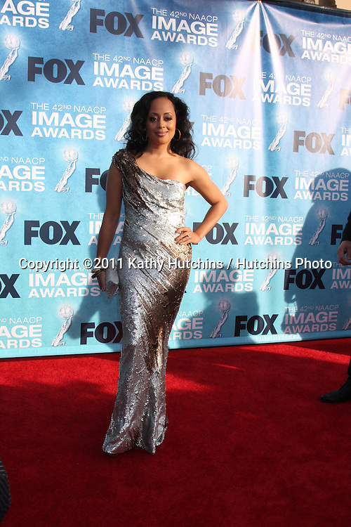 LOS ANGELES -  4: Essence Atkins arriving at the 42nd NAACP Image Awards at Shrine Auditorium on March 4, 2011 in Los Angeles, CA