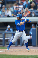 Michael Cruz (8) of the South Bend Cubs at bat against the West Michigan Whitecaps at Fifth Third Ballpark on June 10, 2018 in Comstock Park, Michigan. The Cubs defeated the Whitecaps 5-4.  (Brian Westerholt/Four Seam Images)