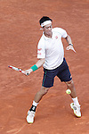 Japanese tennis player K. Nishikori during a Madrid Open tennis tournament match. May 10, 2014. (ALTERPHOTOS/Victor Blanco)