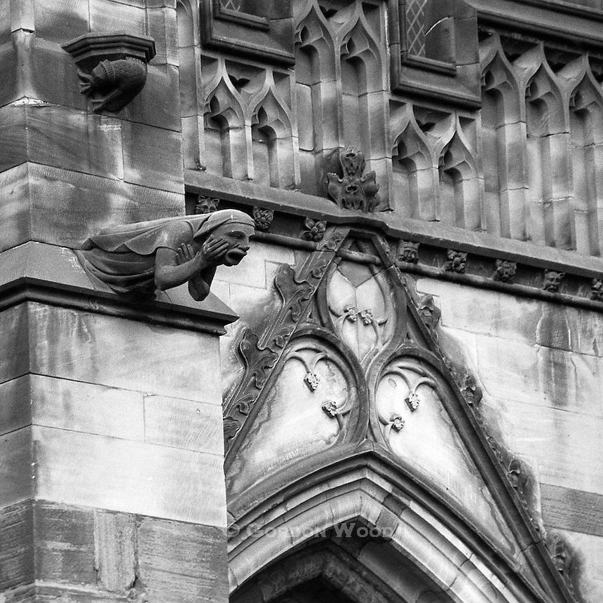 Gargoyles, Chester Cathedral, Chester, England