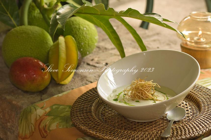 Food at the Sugar Mill Restaurant (2007).Tortola