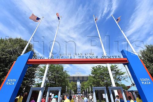03.09.2014. New York, NY, USA. US Open Tennis tournament grand slam.  Stadium Arthur Ashe under bright sunny conditions