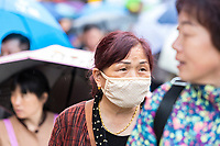 Nanjing, Jiangsu, China.  Chinese Woman Wearing Breathing Mask.