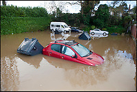 BNPS.co.uk (01202 558833)<br /> Pic: PhilYeomans/BNPS<br /> <br /> Car park flooded....<br /> <br /> The River Stour at Christchurch, Dorset, broke its banks last night causing the Iford Bridge Home Park to be evacuated as 3 feet of flood water swept through.