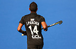 Jared Panchia during the Pro League Hockey match between the Blacksticks men and Belgium, National Hockey Arena, Auckland, New Zealand, Sunday 2 February 2020. Photo: Simon Watts/www.bwmedia.co.nz