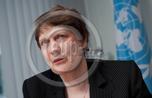 Brussels-Belgium - May 10, 2012 -- Helen CLARK, Administrator of the United Nations Development Programme (UNDP) and former Prime Minister of New Zealand, during an interview -- Photo: Horst Wagner / eup-images
