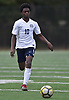 Mo Romeus #10 of The Stony Brook School chases after a ball near midfield during the PSAA varsity boys soccer final against Long Island Lutheran at Cantiague Park in Hicksville on Friday, Oct. 26, 2018. He scored on a penalty kick to break a 1-1 tie midway through the second half. Stony Brook went on to win 2-1 to claim the league championship.