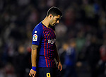 Luis Alberto Suarez Diaz of FC Barcelona reacts during the La Liga 2018-19 match between Rayo Vallecano and FC Barcelona at Estadio de Vallecas, on November 03 2018 in Madrid, Spain. Photo by Diego Gouto / Power Sport Images