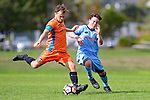 NELSON, NEW ZEALAND April 6: Div 1 Football Suburbs v Tahuna at Saxton, Nelson, April 6, 2019, Nelson, New Zealand (Photos by Barry Whitnall/Shuttersport Limited)