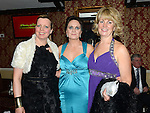 Tricia McDonnell, Tara Woods and Fionnula Murphy pictured at the Cystic Fibrosis gala ball in the Grove Hotel Dunleer. Photo:Colin Bell/pressphotos.ie