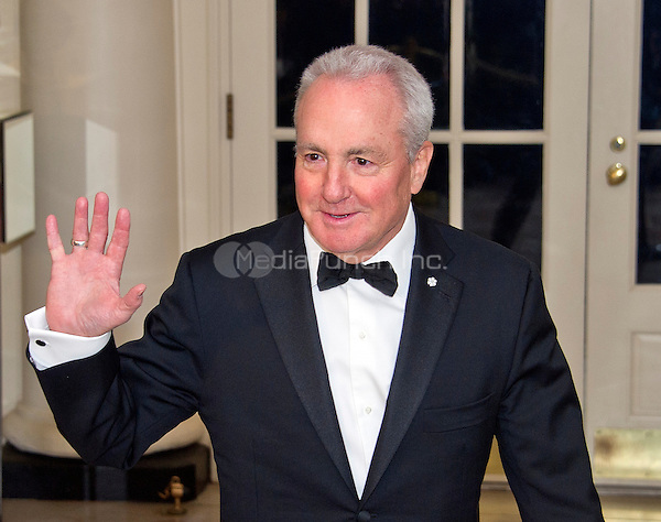Lorne Michaels, Executive Producer, Saturday Night Live arrives for the State Dinner in honor of Prime Minister Trudeau and Mrs. Sophie Gr&Egrave;goire Trudeau of Canada at the White House in Washington, DC on Thursday, March 10, 2016.<br /> Credit: Ron Sachs / Pool via CNP/MediaPunch