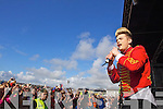 Jedward performing at the Atlantic Music Sessions Festival in Ballybunion on Sunday.