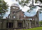 The Hiroshima Peace Memorial, commonly called the Atomic Bomb Dome or Genbaku Domu, in Hiroshima, Japan, is part of the Hiroshima Peace Memorial Park and was designated a UNESCO World Heritage Site in 1996.