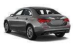 Car pictures of rear three quarter view of a 2019 Mercedes Benz A Class A 200 4 Door Sedan angular rear