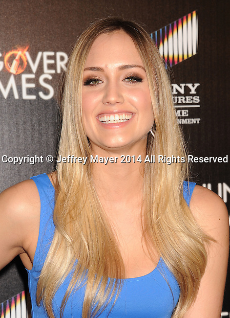 HOLLYWOOD, CA- FEBRUARY 11: Actress Naomi Kyle attends the Los Angeles Premiere of 'The Hungover Games' at TCL Chinese Theatre on February 11, 2014 in Hollywood, California.