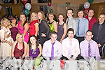 Woodies staff pictured having a ball at their Xmas party  held in The Ballyroe Heights Hotel on Saturday night. Seated l/r Josephine Pattwell, Emma Dyland, Colm Scannell, Shane McAulliffe and Eoin Quilter, standing l/r P. Boyle, M. O'Sullivan, Zoe Grattage, Sarah Rael, Michelle Conway, Karen Farrell, Maura Higgins, Jason Nugent, John O'Connor, Paul O'Sullivan and John Harding.