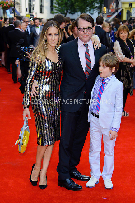 WWW.ACEPIXS.COM<br /> <br /> US Sales Only<br /> <br /> June 25 2013, London<br /> <br /> Sarah Jessica Parker, James Broderick and Matthew Broderick at the 'Charlie and the Chocolate Factory' Press night at Drury Lane Theatre on June 25 2013 in London<br /> <br /> By Line: Famous/ACE Pictures<br /> <br /> <br /> ACE Pictures, Inc.<br /> tel: 646 769 0430<br /> Email: info@acepixs.com<br /> www.acepixs.com