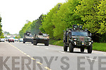 Irish Army passing on the Cork bypass in Killarney on Tuesday