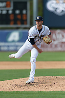 Kane County Cougars relief pitcher Andy Toelken (22) during a Midwest League game against the Cedar Rapids Kernels at Northwestern Medicine Field on April 28, 2019 in Geneva, Illinois. Kane County defeated Cedar Rapids 3-2 in game one of a doubleheader. (Zachary Lucy/Four Seam Images)